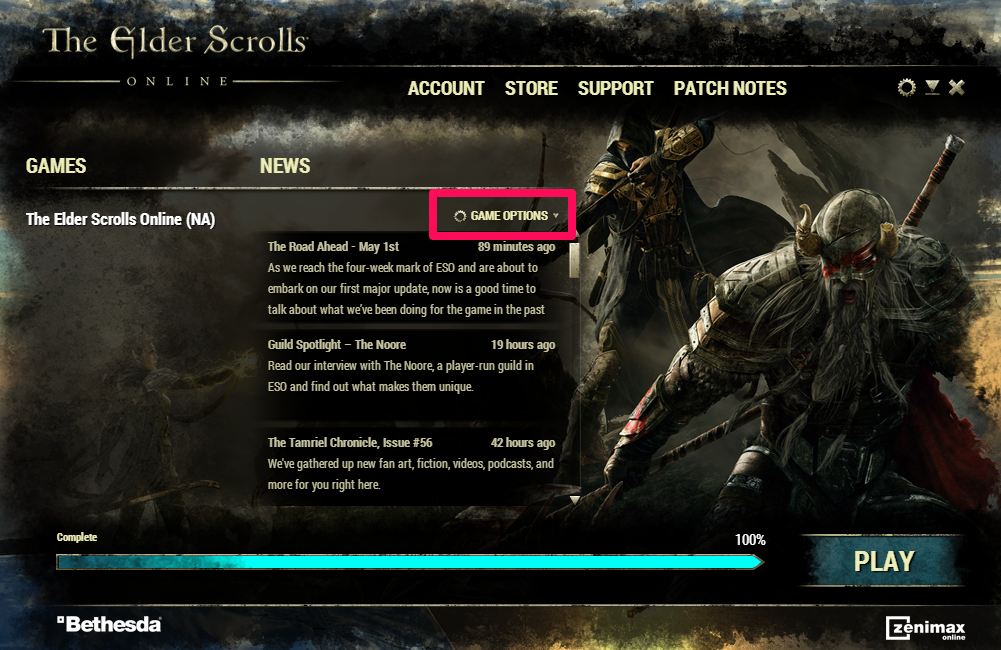 options online game