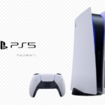 Playstation 5 console with controller
